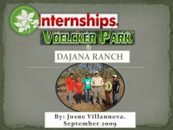 &<br />DAJANA RANCH<br />By: Josue Villanueva.<br />September 2009<br />