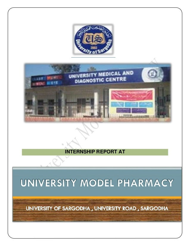 Pharmacy Internship Report (Apprentice, Community Pharmacist, Retail Pharmacist)