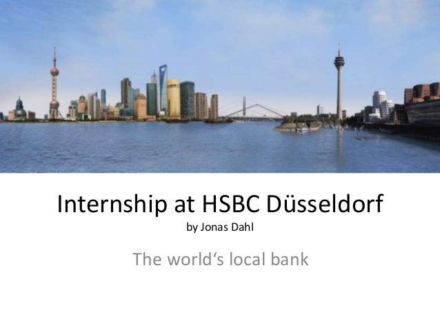 Internship at hsbc d├╝sseldorf
