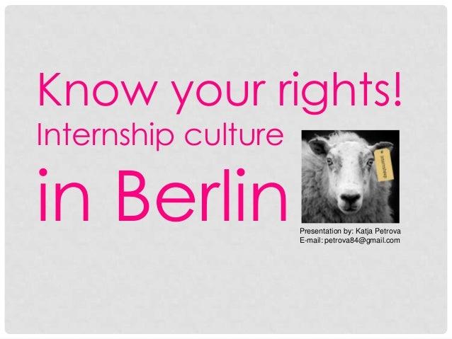 Internship Culture in Berlin