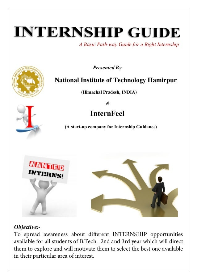 A Basic Path-way Guide for a Right Internship  Presented By  National Institute of Technology Hamirpur (Himachal Pradesh, ...