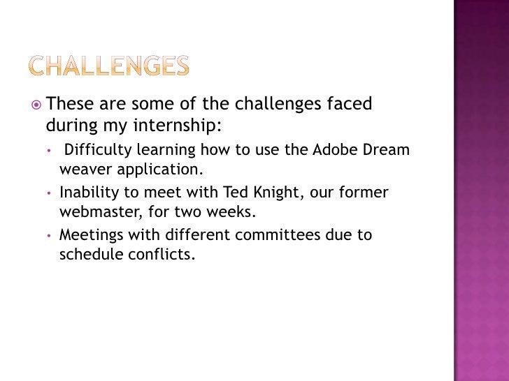 internship project power point presentation