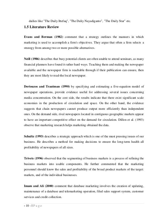 Strategic Marketing A literature review on - IDEAS - RePEc
