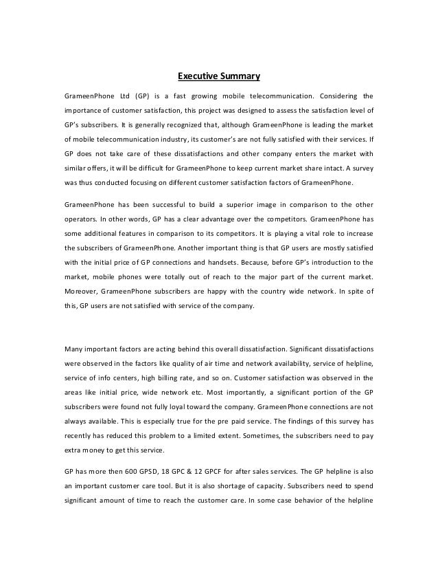 objectives of grameenphone A objectives the goal of this paper is to make correlations and distinguish real  reasons for contrasts in the level of fulfillment of college understudies of.