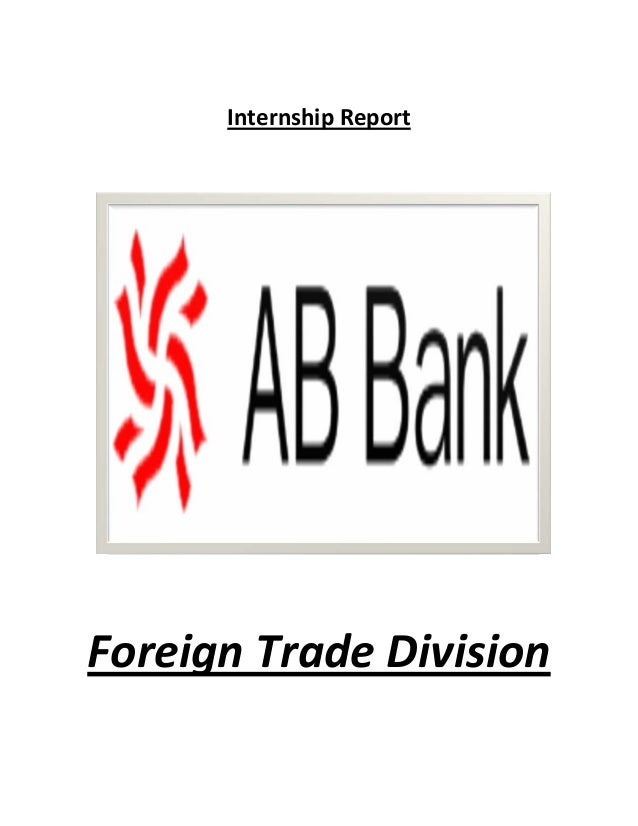 Internship Report    Foreign Trade Division