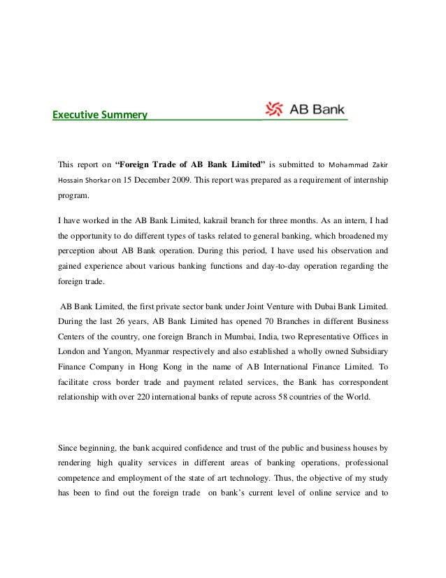 internship report in treasury department of bank Mcb internship report  treasury and forex group  in mcb there is lack of specialized skill because of job rotation policy of human resource department the bank.