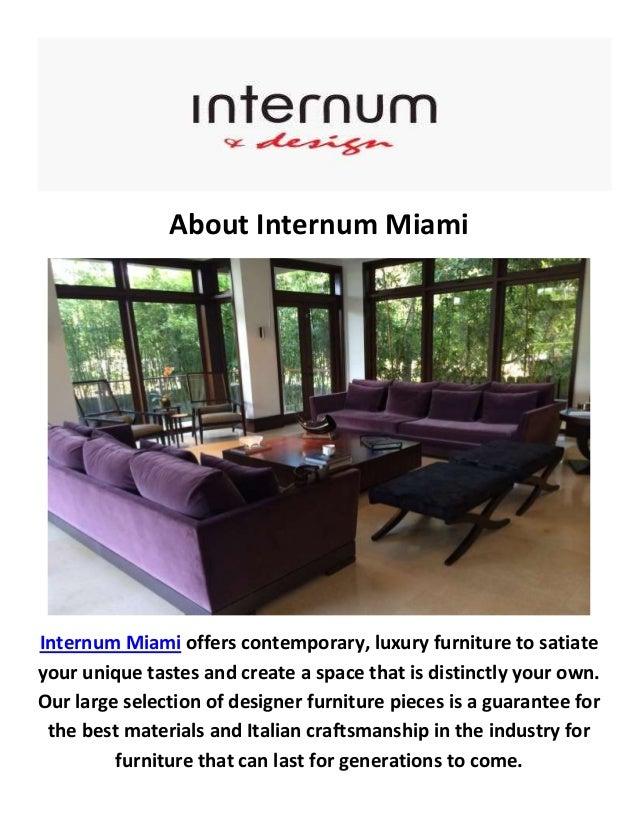 Internum Miami Contemporary Furniture In Miami