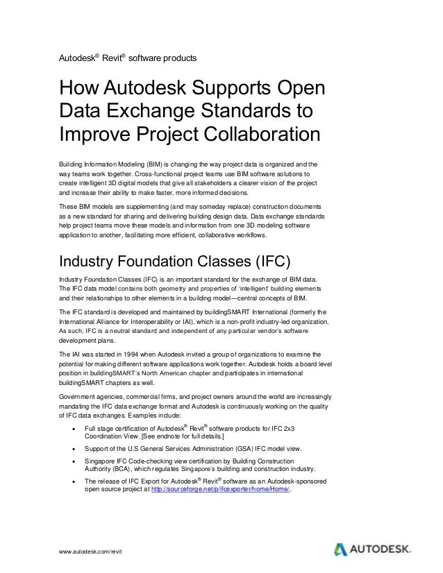 Whitepaper: How Autodesk Supports Open Data Exchange Standards