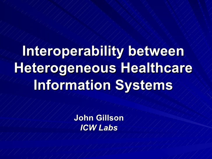 Interoperability Between Healthcare Applications
