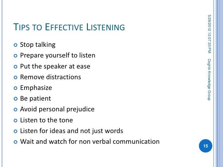 listening distractions essay