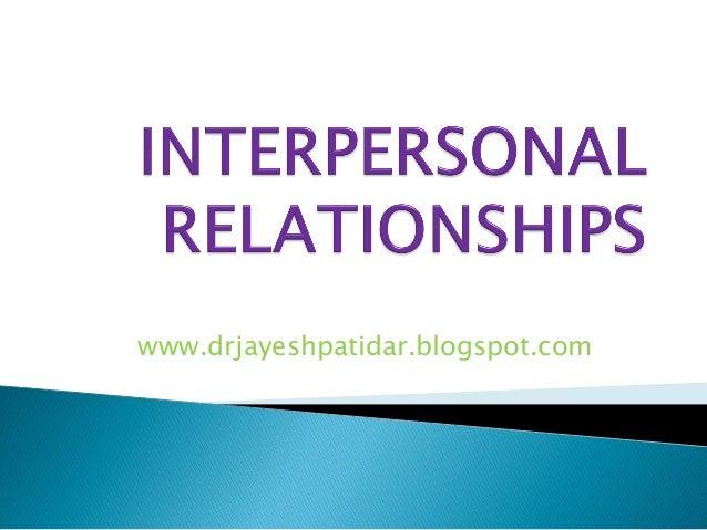 Interpersonal relati