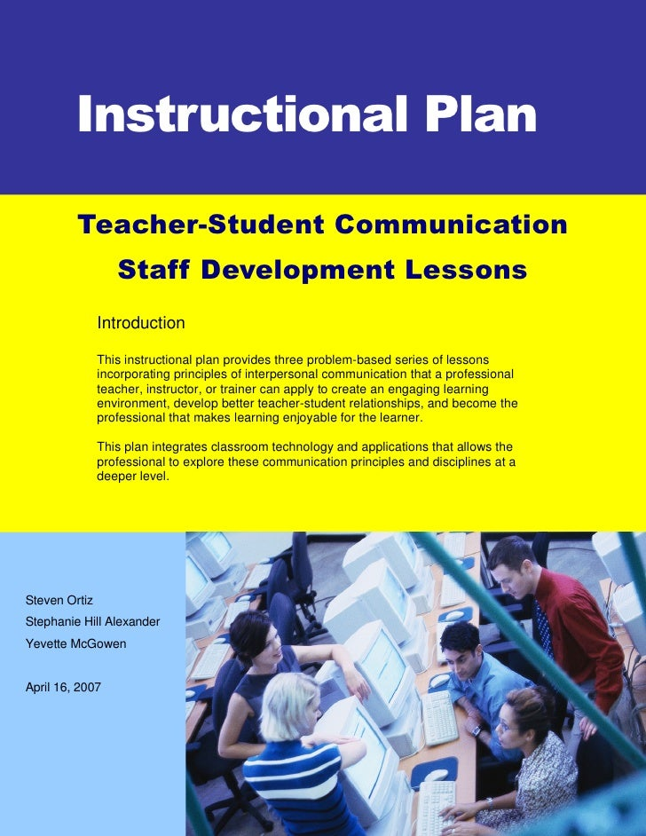 Lesson Plan - Interpersonal Communication