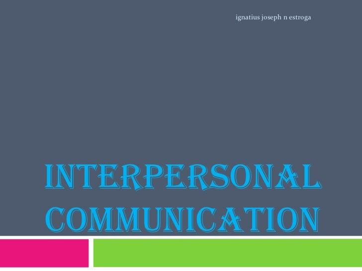 Interpersonal communication 2003