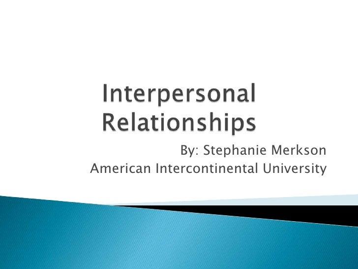 Interpersonal relationships 2