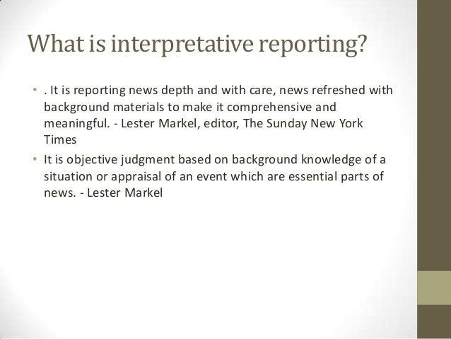 define an interpretive essay