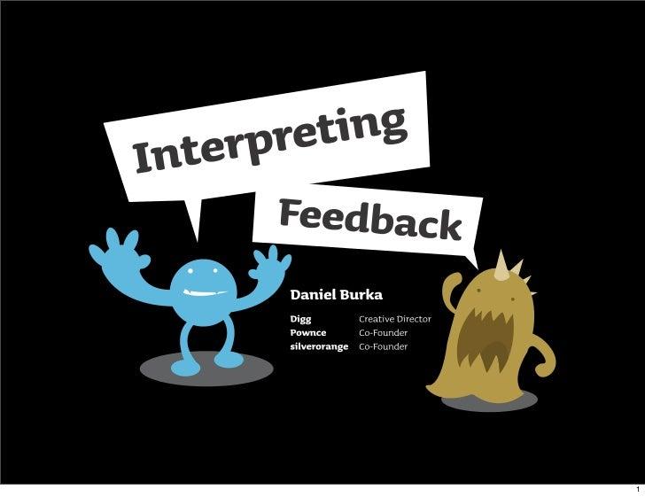 Interpreting Feedback