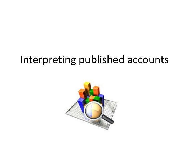 Interpreting published accounts