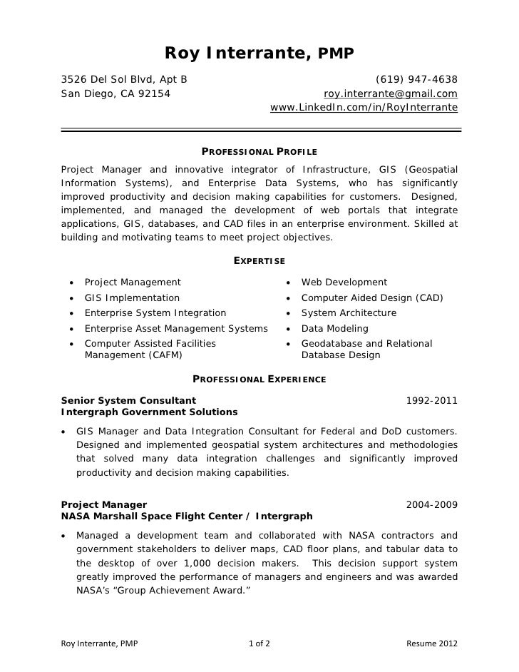 resume roy interrante pmp