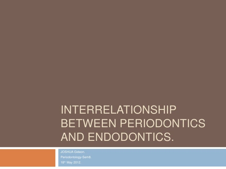 Interrelationship between periodontics and endodontics