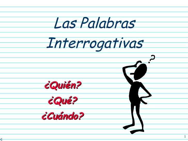 Interrogative Question words
