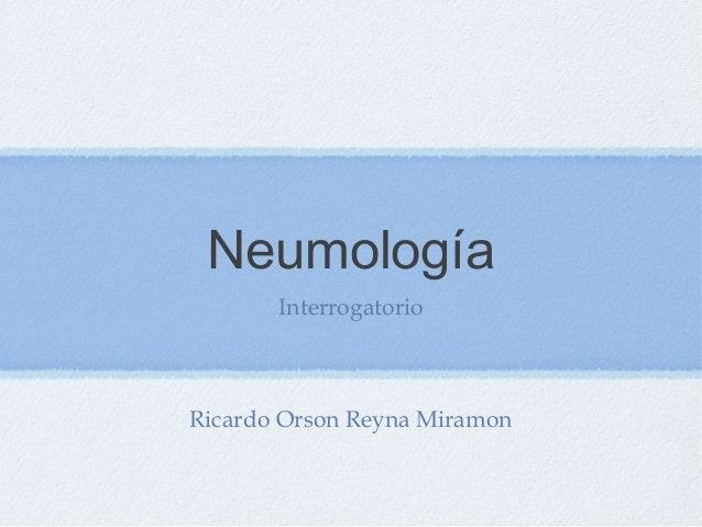 semiologia neumologia