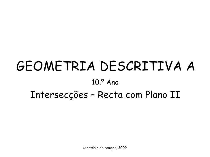 Intersec recta plano2