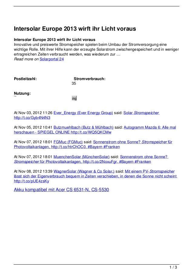 Intersolar Europe 2013 wirft ihr Licht vorausIntersolar Europe 2013 wirft ihr Licht vorausInnovative und preiswerte Stroms...