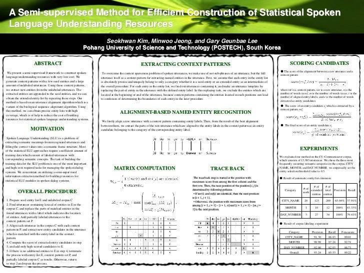 A semi-supervised method for efficient construction of statistical spoken language understanding resources