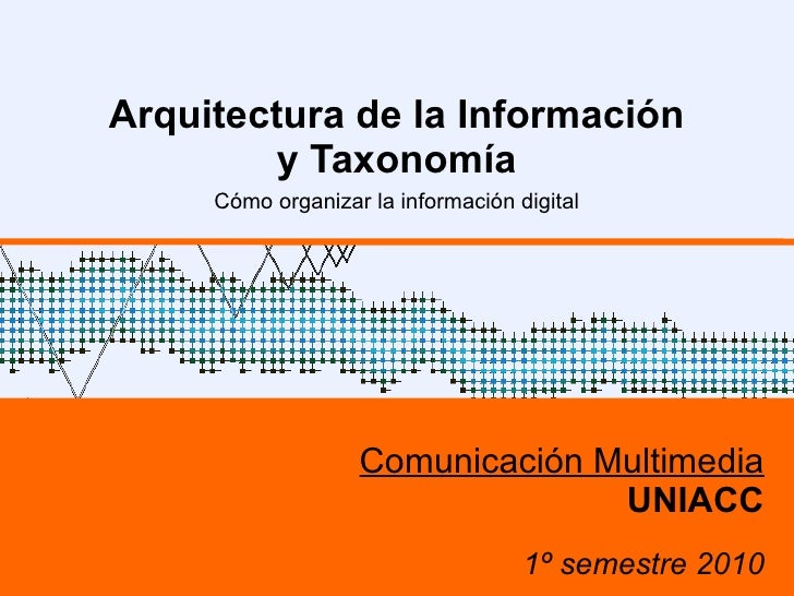 Arquitectura de la Información y Taxonomía Cómo organizar la información digital Comunicación Multimedia UNIACC 1º semestr...