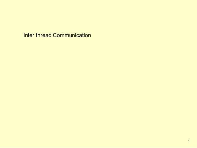 Inter thread Communication                             1