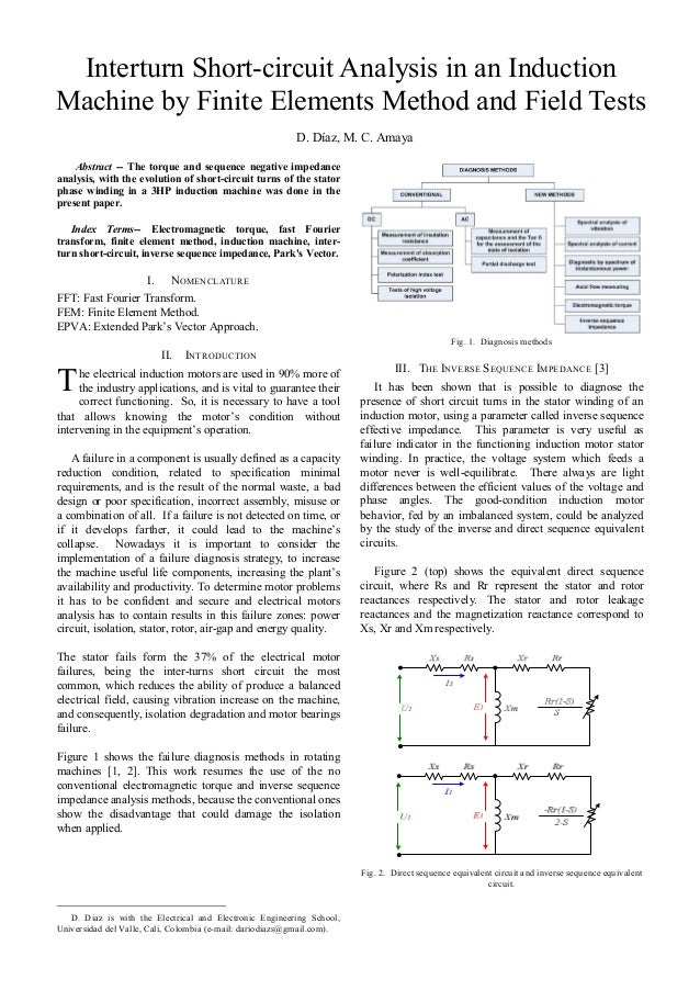 Interturn Short-circuit Analysis in an InductionMachine by Finite Elements Method and Field Tests                         ...