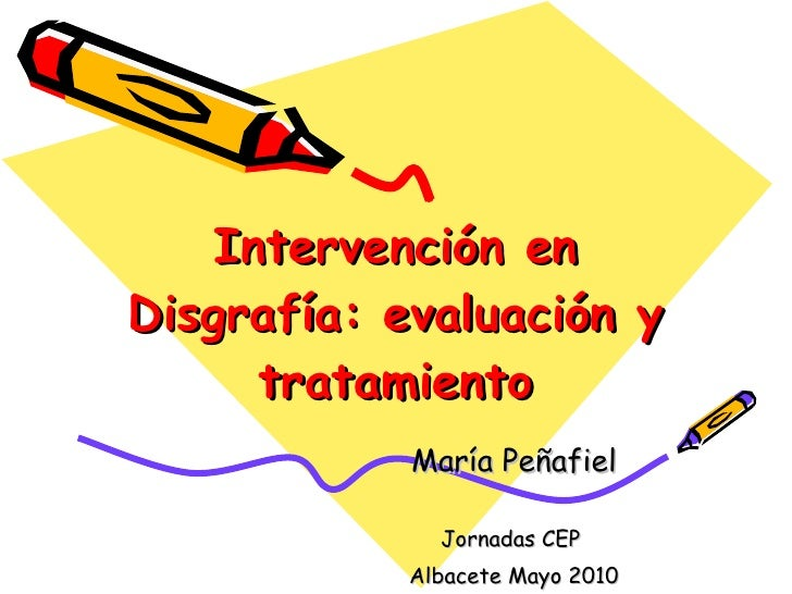 Intervencion disgrafia alumnos