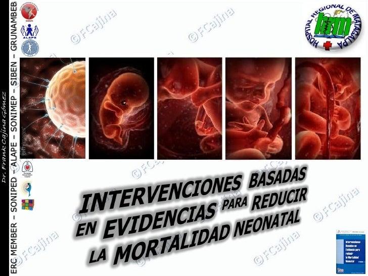 Intervenciones basadas en evidencias para reducir la mortalidad neonatal