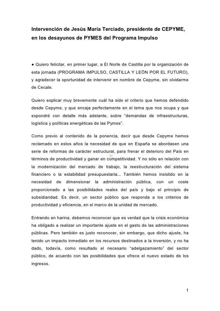 Ponencia de Jesús Mª Terciado