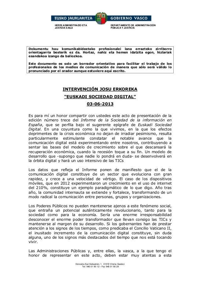 Donostia-San Sebastián, 1. 01010 Vitoria-GasteizTef. 945 01 90 12 – Fax 945 01 90 29HERRI ADMINISTRAZIO ETAJUSTIZIA SAILAD...