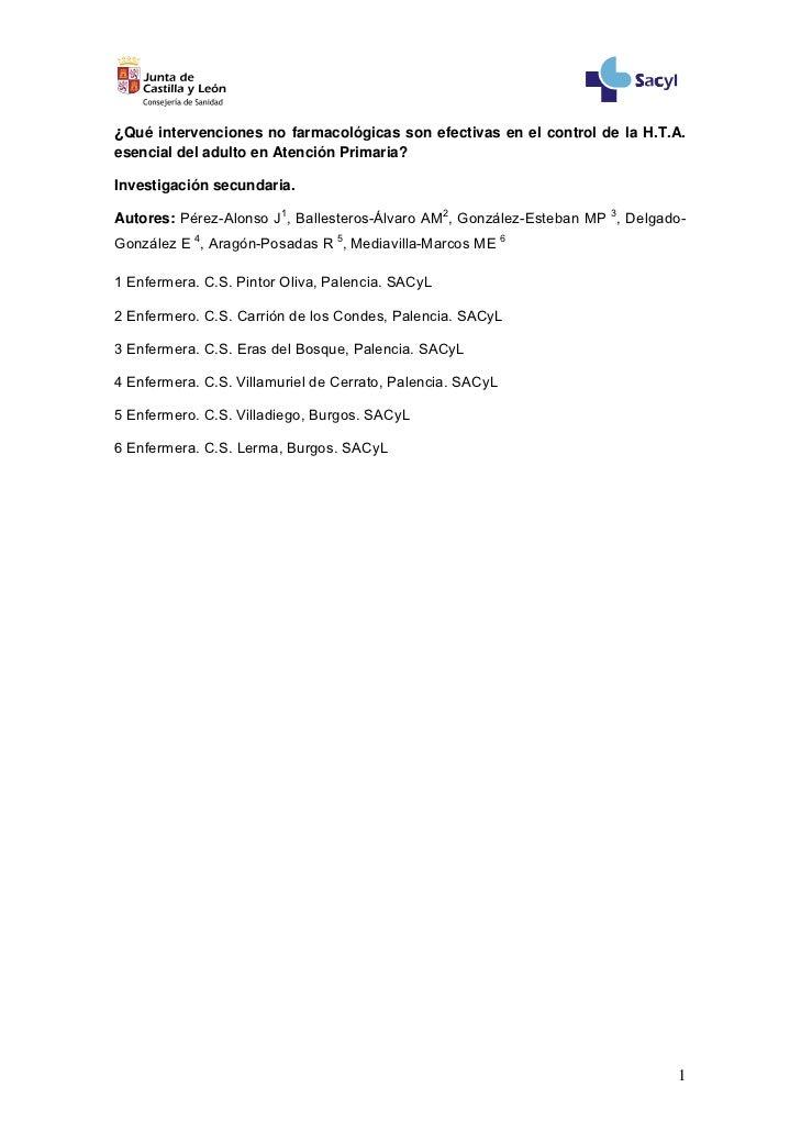 Intervencions en HTA