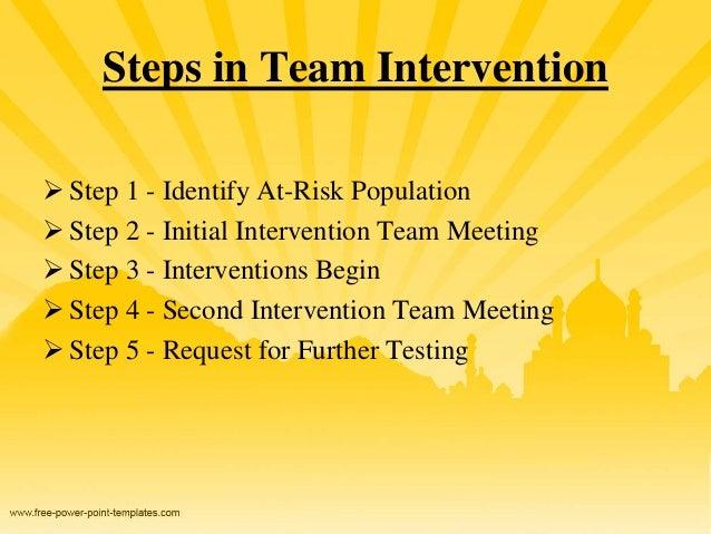 Intervention Team Meeting Steps in Team Intervention