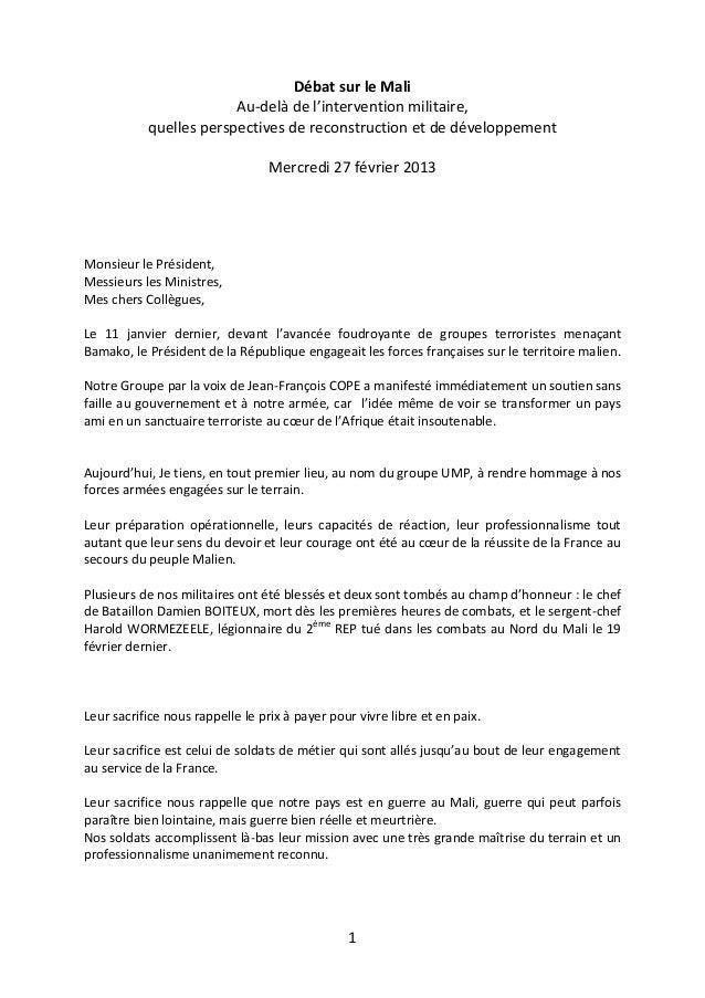 Débat sur le Mali                        Au-delà de l'intervention militaire,           quelles perspectives de reconstruc...