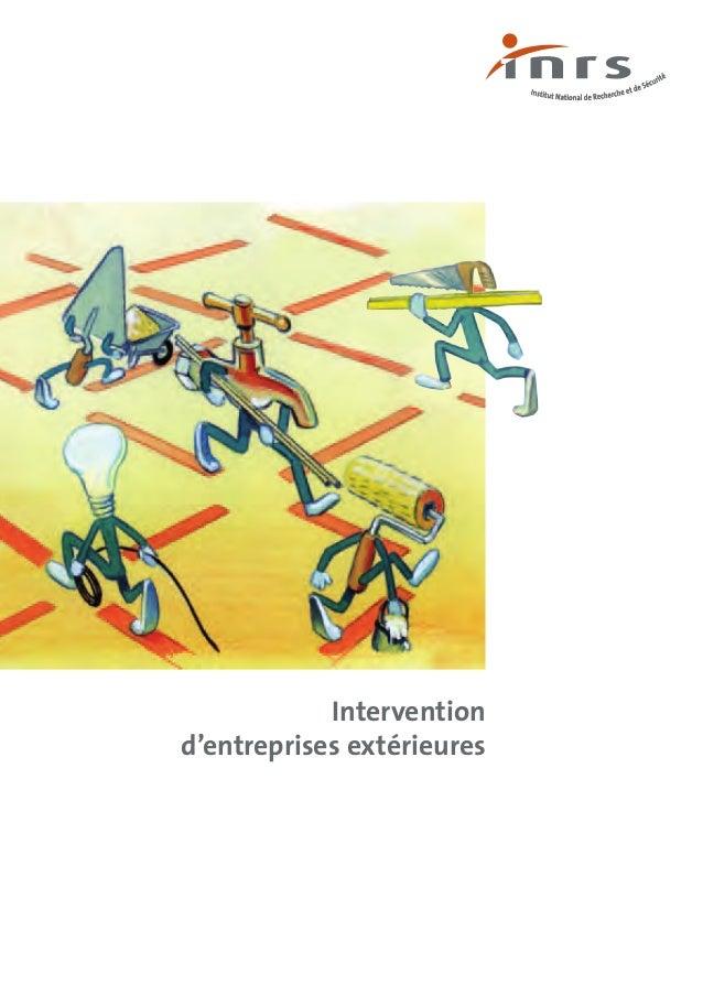 Intervention d'entreprises extérieures   inrs 2009