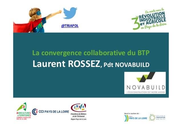 @TRIAPDL  La convergence collaborative du BTP  Laurent ROSSEZ, Pdt NOVABUILD  Avec le soutien de :