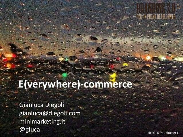 """Gianluca Diegoli (minimarketing.it) a Branding 2.0 - edizione 2013 - ha fatto un intervento dal titolo """"E-commerce come every-where commerce: trend, esperienze, futuro"""""""