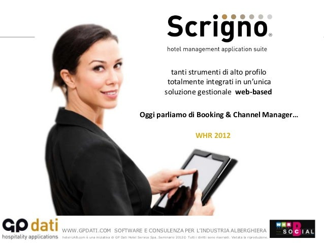 GP Dati - WHR 2012 - Booking & Channel manager - Giuseppe Pellegrini