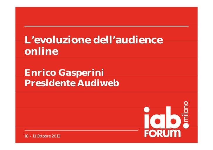 L'evoluzione dell'audience online