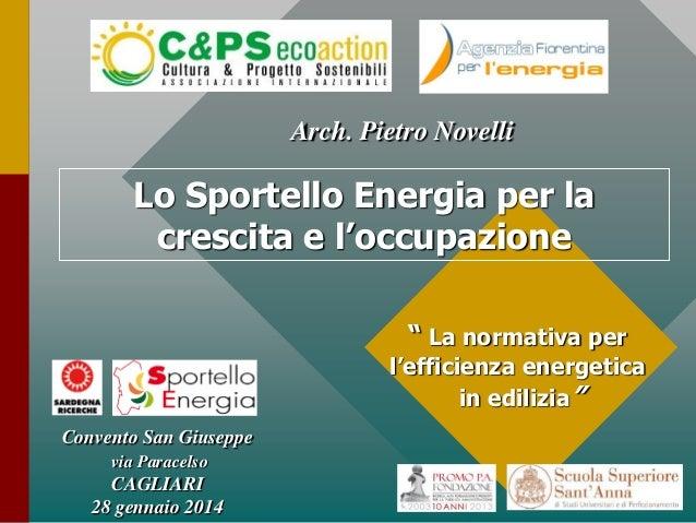 La normativa per l'efficienza energetica in edilizia - Pietro Novelli