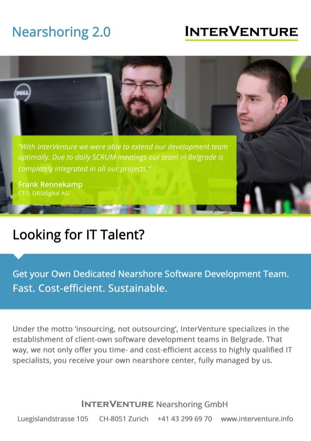 Agile Nearshore Software Outsourcing - Your Own Team Model - InterVenture