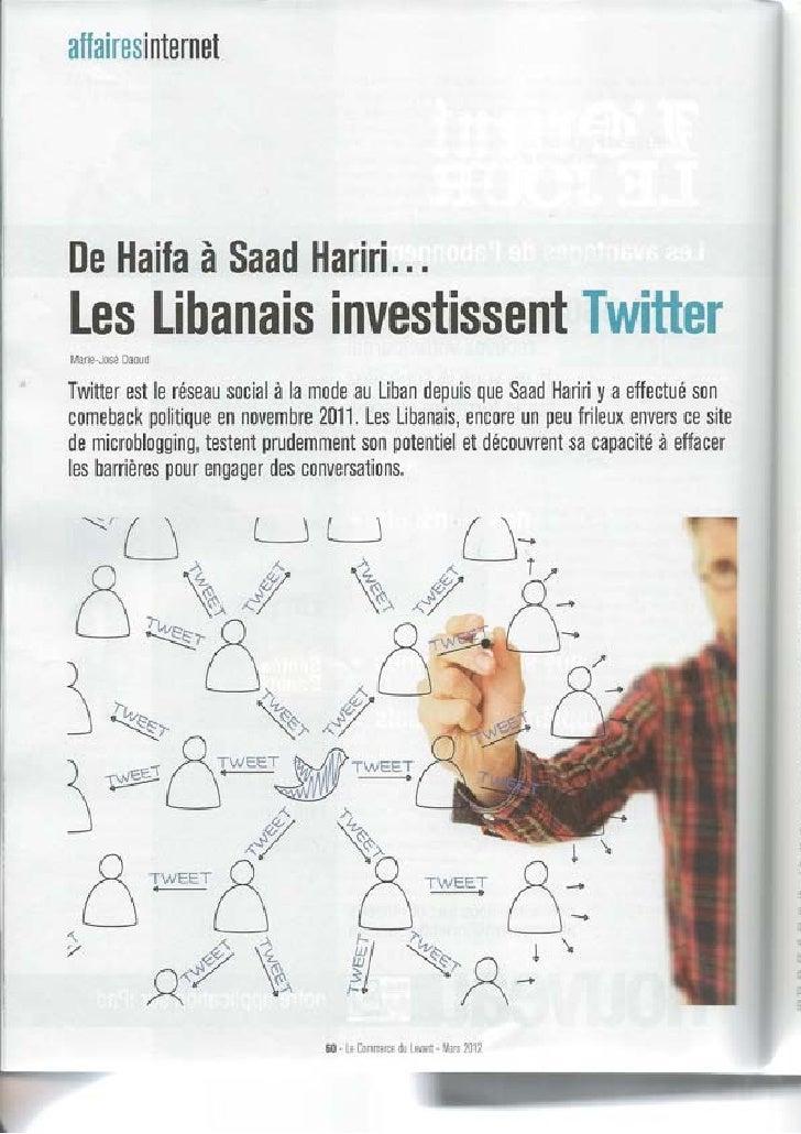 Les Libanais investissent Twitter