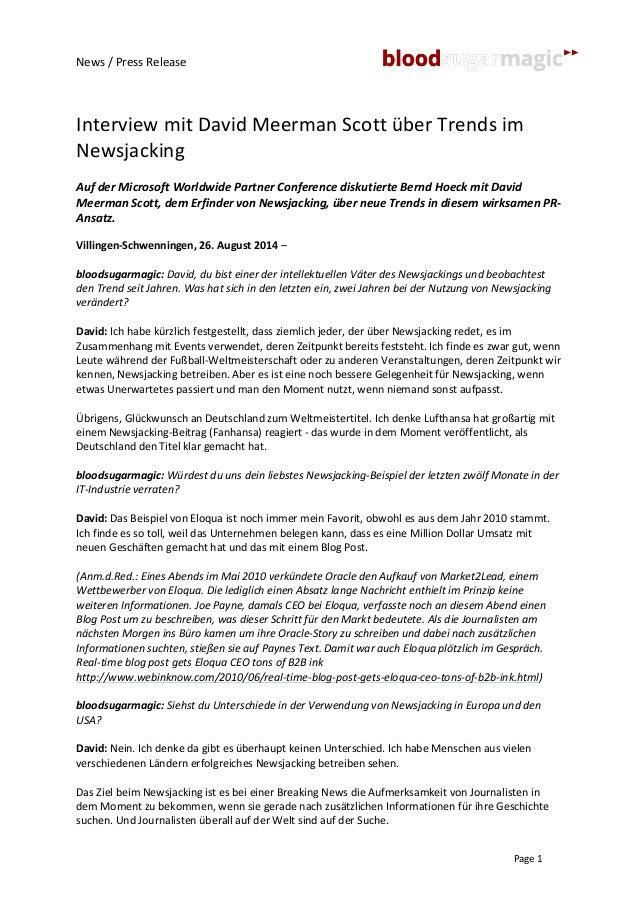 News  /  Press  Release  Interview  mit  David  Meerman  Scott  über  Trends  im  Newsjacking  Auf  der  Microsoft  Worldw...