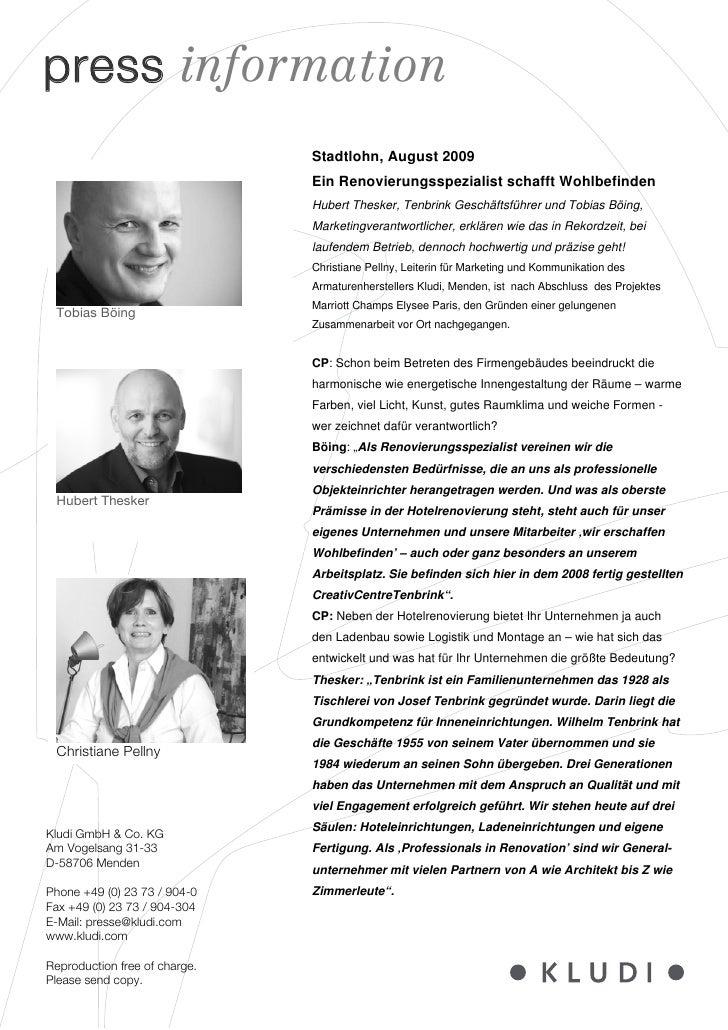 press information                               Stadtlohn, August 2009                               Ein Renovierungsspezi...