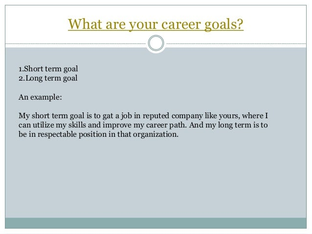 Elegant What Are Your Short Term Professional Goals. Essay Of Gaols ...