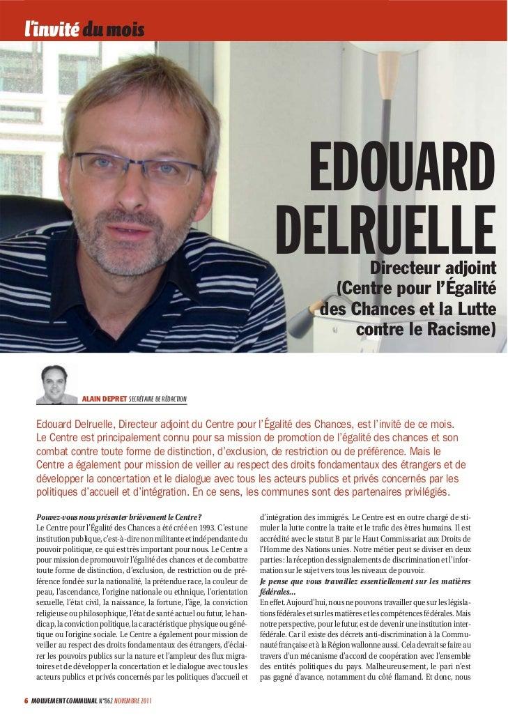 Interview d'edouard delruelle - Adjoint du centre pour l'égalité des chances et la lutte contre le racisme